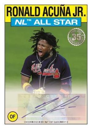 1986 Topps All Star Baseball Autograph Ronald Acuna MOCK UP