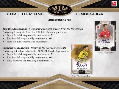 2020-21 Topps Tier One Bundesliga Soccer