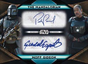 Dual Auto Giancarlo Esposito as Moff Gideon, Pedro Pascal as The Mandalorian MOCK UP
