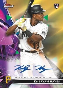 Finest Auto Gold Refractor Auto KeBryan Hayes MOCK UP