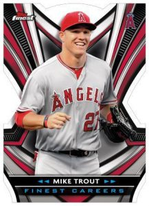 Finest Careers Die-Cut Mike Trout MOCK UP