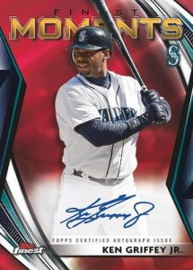 Finest Moments Auto Ken Griffey Jr Red Refractor MOCK UP