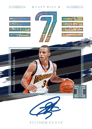 Impeccable Draft Picks Auto Stephen Curry MOCK UP