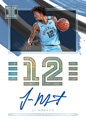 Impeccable Jersey Number Auto Ja Morant MOCK UP