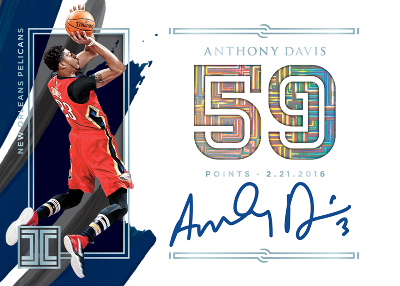 Impeccable Stats Auto Anthony Davis MOCK UP