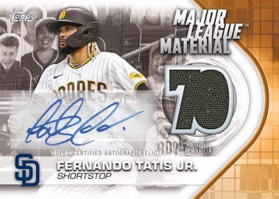 Major League Material Autograph Relic Fernando Tatis Jr MOCK UP