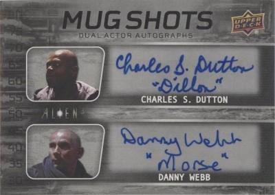 Mug Shots Dual Auto Charles S. Dutton, Danny Webb