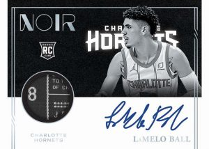 Rookie Patch Auto Black and White Tags LaMelo Ball MOCK UP