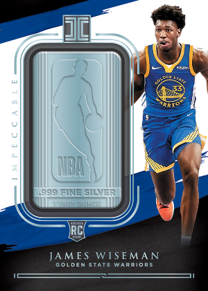 Silver NBA Logo James Wiseman MOCK UP