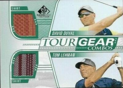 Tour Gear Combos Dual Shirt Relics David Duval, Tom Lehman