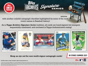 2021 Topps Archives Signature Series Retired Player Edition