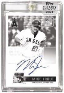 70 Years of Topps Baseball Auto Black and White Mike Trout MOCK UP