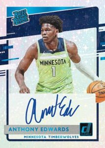 Clearly Rated Rookie Auto Holo Platinum Anthony Edwards MOCK UP