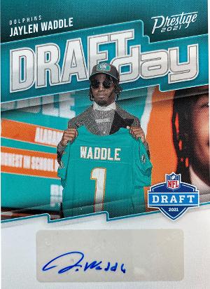Draft Day Signature Jaylen Waddle