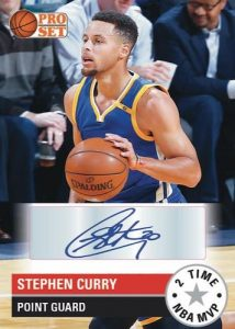 Pro Set Basketball Stephen Curry MOCK UP