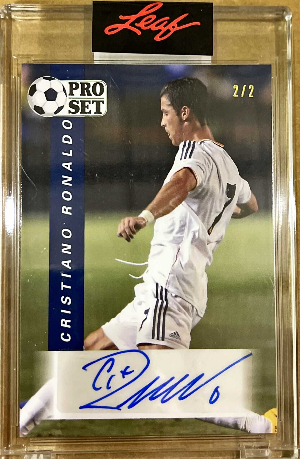 Pro Set Soccer Auto Navy Blue Cristiano Ronaldo