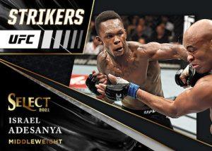 Select Strikers Black Prizm Israel Adesanya MOCK UP