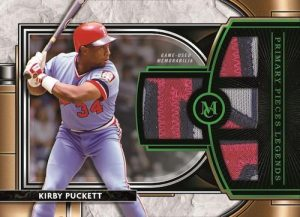 Single Player Primary Pieces Quad Relics Legends Emerald Kirby Puckett MOCK UP
