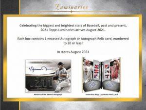 2021 Topps Luminaries Baseball