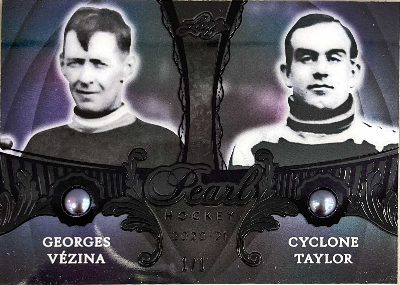 Base Pearls Dual Black Foil Georges Vezina, Cyclone Taylor