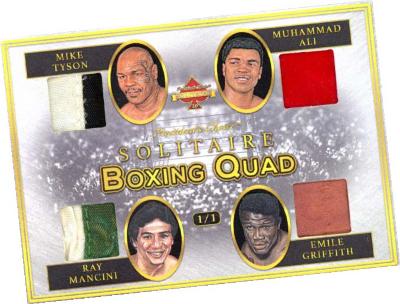 Boxing Quad Mike Tyson, Muhammad Ali, Ray Mancini, Emile Griffith MOCK UP