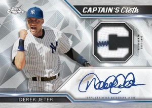 Captains Cloth Chrome Relic Auto Derek Jeter MOCK UP