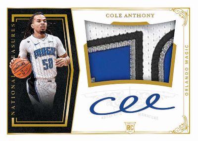 Crossover 2010 Rookie Patch Auto Cole Anthony MOCK UP