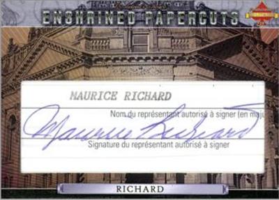 Enshrined Papercuts Maurice Richard MOCK UP