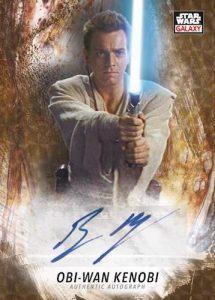 Galaxy Auto SuperFractor Ewan McGregor as Obi Wan Kenobi MOCK UP