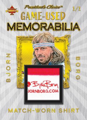 Game-Used Memorabilia Gold Bjorn Borg MOCK UP