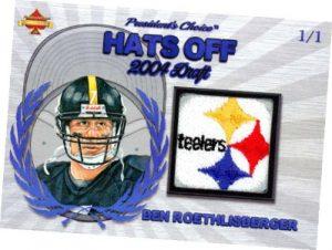 Hats Off Relics Blue Ben Roethlisberger MOCK UP