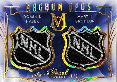Magnum Opus Gold Spectrum Holofoil Dominik Hasek, Martin Brodeur