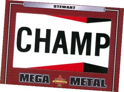 Mega Metal Relics Tony Stewart MOCK UP