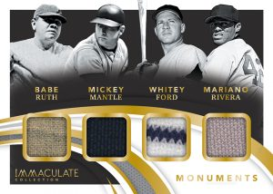 Monuments Relics Babe Ruth, Mickey Mantle, Whitey Ford, Mariano Rivera MOCK UP