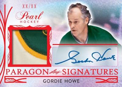 Paragon Signatures Gordie Howe MOCK UP