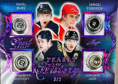Pearls of History Purple Spectrum Holofoil Pavel Bure, Alexander Mogilny, Sergei Fedorov, Jaromir Jagr
