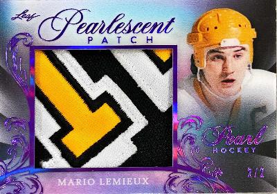 Pearlescent Patch Purple Spectrum Holofoil Mario Lemieux