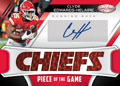 Piece of the Game Signatures Red Clyde Edwards-Helaire MOCK UP