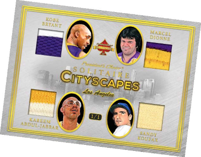 Quad Cityscapes Kobe Bryant, Marcel Dionne, Kareem Abdul-Jabbar, Sandy Loufax MOCK UP