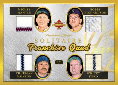 Quad Franchises Mickey Mantle, Bobby Richardson, Thurman Munson, Whitey Ford MOCK UP