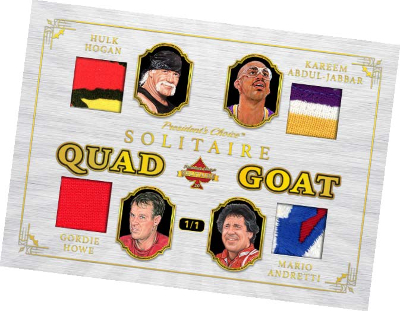 Quad GOAT Hulk Hogan, Kareem Abdul-Jabbar, Gordie Howe, Mario Andretti MOCK UP