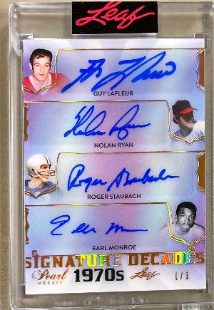Signature Decades Guy Lafleur, Nolan Ryan, Roger Staubach, Earl Monroe