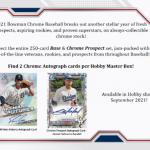 2021 Bowman Chrome Baseball