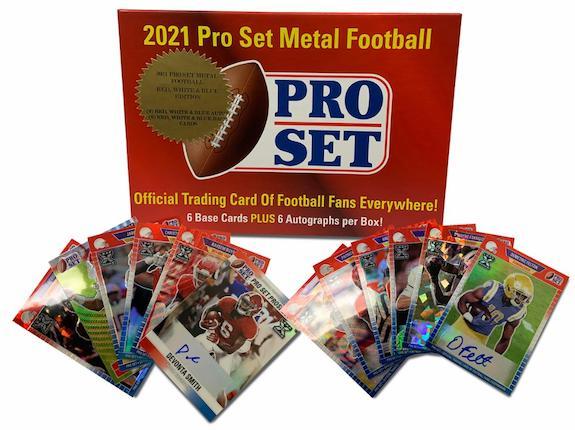 2021 Pro Set Metal Football RWB