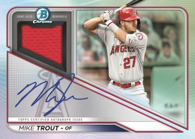 Chrome Auto Relics Mike Trout MOCK UP