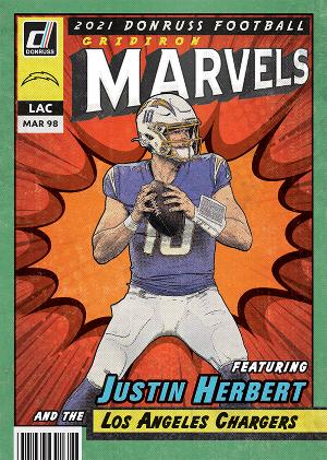 Gridiron Marvels Justin Herbert MOCK UP