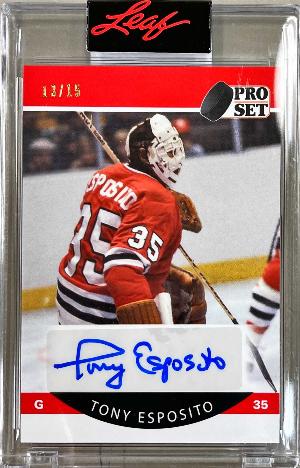 Pro Set 1990-91 Hockey Auto Red Tony Esposito