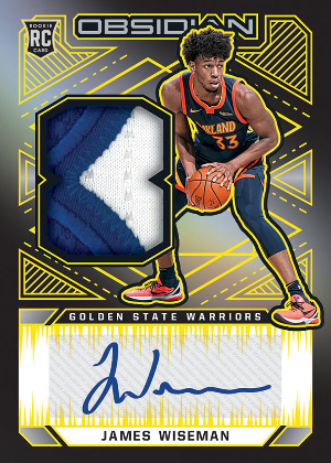 Rookie Jersey Auto Electric Etch Yellow James Wiseman MOCK UP