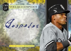 Sterling Tender Auto Canary Diamond Refractor Yoelqui Cespedes MOCK UP