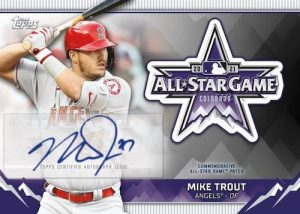 2021 MLB All-Star Game Commemorative Sleeve Logo Patch Auto Mike Trout MOCK UP